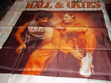 """HALL AND OATS HUGE TAPESTRY LICENSED BY NIKRY EXTREMELY RARE 1982 45"""" X 48"""""""