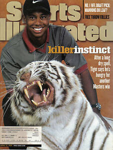 1998 4/13 Sports Illustrated magazine golf Tiger Woods Masters Augusta VG