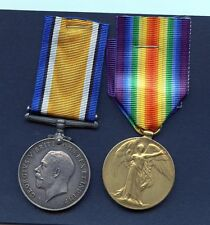 WORLD WAR ONE PAIR OF MEDALS  S BENNETT RSF ROYAL SCOTS FUSILIERS