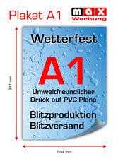 1x PVC-Poster/Plakat-Druck DIN A1 wetterfest für Kundenstopper