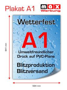 2x PVC-Poster/Plakat-Druck DIN A1 wetterfest für Kundenstopper