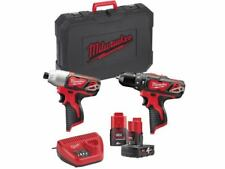 Milwaukee M12bdd-202c M12 Compact Drill Driver 2 X 2ah Batteries Charger
