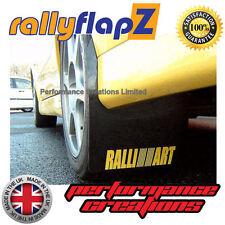 rallyflapZ Mitsubishi Lancer Evo 5-6 Mud Flaps Kit Black Ralliart Yellow 4mm PVC