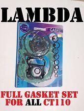 Full Gasket Set Top End bottom end  Set  CT110 Honda Postie Bikes CT110X & hi/lo