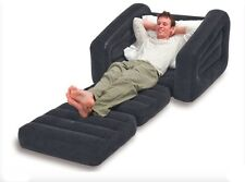 Twin Size Inflatable Bed Pull Out Chair Sleeper Recliner Lounge Sofa Folding New