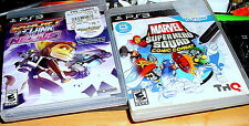 2 PS3 GAMES> Ratchet and Clank: Into the Nexus -& Marvel Super Hero Squad