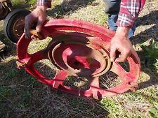 Farmall H Tractor IH rear cast wheel hub center & mounting wedge blocks buckles