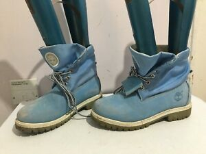TIMBERLAND GENUINE LEATHER BLUE WOMENS LADIES SIZE 7 ANKLE BOOTS SHOES