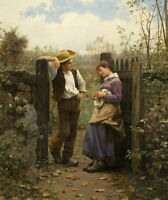 Daniel Ridgway Knight Rural Courtship Giclee Canvas Print Paintings Poster