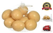 10x Artificial Nest Eggs Fake Faux Toy Food Dummy House Decor Photography Props