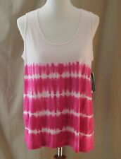a.n.a., Large, Empire Rose 2-Tone Pink Tank, New with Tags