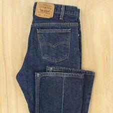 vtg usa made tab Levi's 517 fit denim jeans 34 x 30 tagged faded dark blue