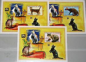 GUINEA 1999 Block 2482-4 Katzenrassen Katzen Cats Domestic Animals Tiere Animals