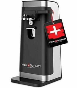 POHL SCHMITT Electric Can Opener - Opens All Standard-Size & Pop-Top Cans Black