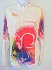Cycling Jersey Long Sleeves Vibrant Xintown Full Zip Women's 2XL ~11~