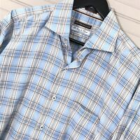 Peter Millar Grandi & Rubinelli L/S Button Shirt 100% Cotton Plaid Men's Size XL