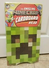 "Minecraft Cardboard Box Head Costume Cosplay Mask Creeper Jinx Sword Pickaxe 12"""