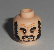 HEAD MF022 Lego Male Light Flesh Black Beard, Bushy Eyebrows, Moustache NEW POTC