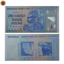 WR Zimbabwe 100 Trillion Dollars Silver Banknote Money .999 Silver Coloured Note