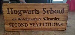 Wooden Storage Box Crate Harry Potter Vintage Style 2nd Year Potions Hogwarts