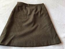 Ladies Size 14 Hand Tailored Vintage Herringbone Tweed Skirt ⭐️