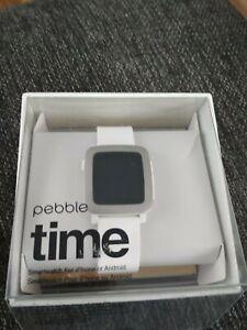 Pebble Watch Weiss