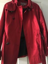 Next Red Double Breasted Short Mac Coat Size 14