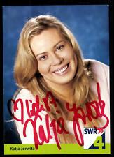 Katja Jorwitz SWR Autogrammkarte Original Signiert ## BC 37982