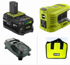 RYOBI RYi150BG 150Watt Powered Inverter Generator 18V W/4 Ah Battery,Charger,Bag