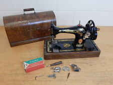 Antique Singer 28K Hand Crank Sewing Machine In Case ~ Dated 1929 ~ Working