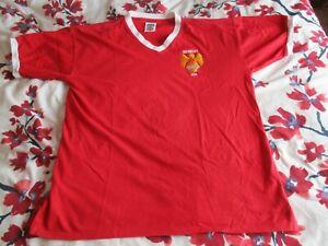 Manchester United Wembley 1958 Score Draw Retro Jersey/Shirt xl