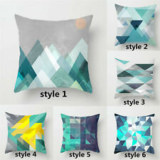 """18"""" Blue Geometry Pillow Covers16""""/20""""/24""""Throw Pillow Covers Sofa Cushion Cover"""