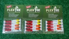 Flex Tees Golf Tees, 3-Pack Special, 24-tees, Red, Yellow, Org. NEW