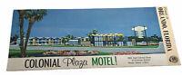Vintage 1950's Colonial Plaza Motel ! Foldout Color Brochure Orlando Florida