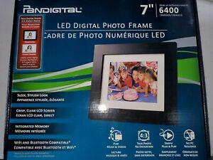 "Pandigital LED Digital Photo Frame 7"" Brand New Free Shipping"