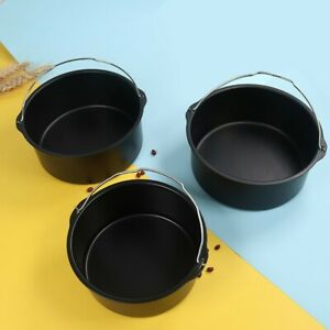 6/7/8 Inch Round Baking Mold Air Fryer Basket Tray Cake Tins Mould No-Stick Pan