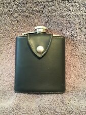 6 oz stainless steel Hip Flask with Leather Belt Loop Alcohol Hip Pocket