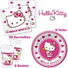 Hello Kitty Servietten Pappteller Becher Einweggeschirr Tischgeschirr Tischdeko