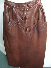 Used Ladies Brown leather Skirt Size 10