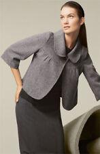 NEW $100 Mac & Jac French Twist Gray Tweed Wool Swing Jacket / Coat Sz 8
