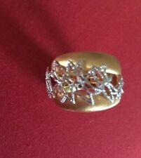 Designer Giordana Castellan Italy Gold Filigree ring size 7