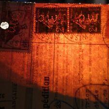 Francobollo Perforato Woehl e Cie su Lettera Cover Ancoper W.C.15 Raro