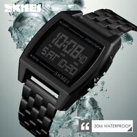 SKMEI Watch Waterproof Luxury Mens Sport Watches LED Digital Military Wristwatch