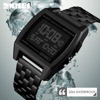 SKMEI Watch Luxury Mens Watches Waterproof LED Digital Military Sport Wristwatch