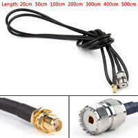 RG58 Cable SMA Female Jack To SO239 UHF Female Straight Coax Pigtail BS4