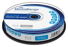 25 MediaRange Bluray BD-R Rohlinge 25 GB 6x fach Blu-Ray