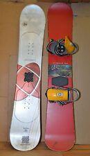 2 vintage snowboards Original Sin Armadillo Elan Vertigo Burton bindings lot