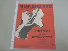 """La chanson de Moulin Rouge (où est votre cœur) - """"MOULIN ROUGE"""" Musique en feuille"""