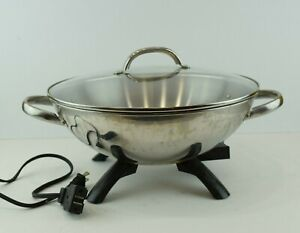 Presto Stainless Steel Electric Wok Model 05900 Tested Working
