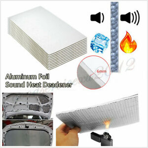 10 Pcs 30cm*50cm 6mm Thickness Vehicles Sound Deadener Heat Deadener Wrap Sheet
